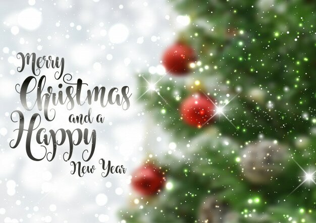 christmas text background with defocussed tree image 1048 7089